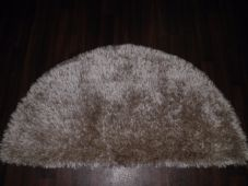HALF MOON SHAGGYS RUGS 60CMX120CM WOVEN GOOD QUALITY NEW SUPER THICK PILE BEIGE